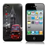 London Bus Design Hard Skin Case For iPhone 4 4S (include Screen Protector)