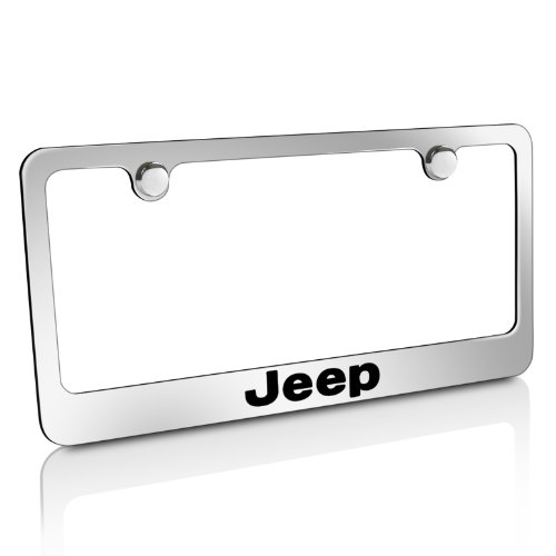 jeep chrome brass license plate frame. Cars Review. Best American Auto & Cars Review