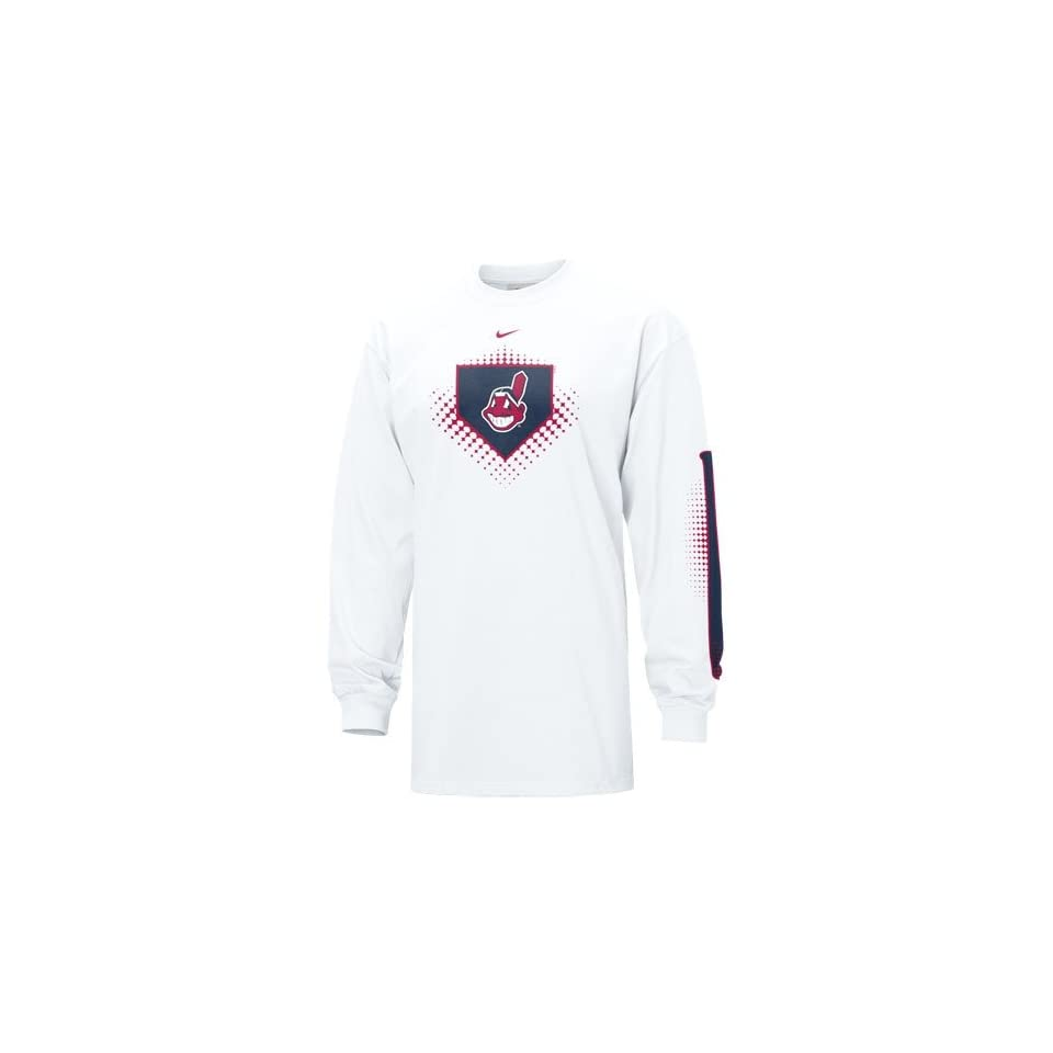 Nike Cleveland Indians White MLB Overthrow Long Sleeve T shirt