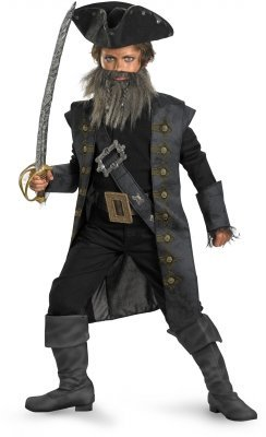 Black Beard Child Costume