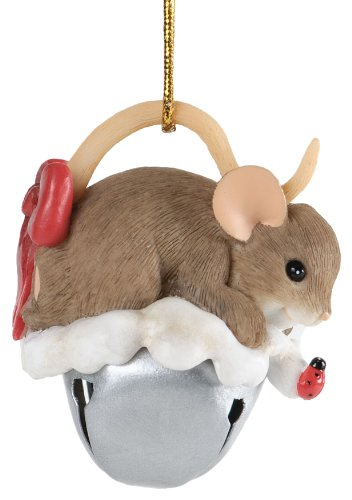 Enesco Charming Tails Sharing a Little Jingle with You Ornament, 2-Inch