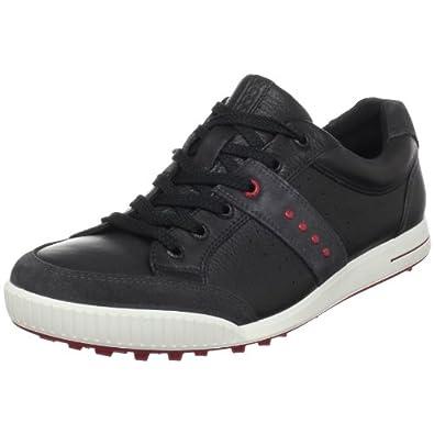 Mens Ecco Golf Street Black/Red - 42