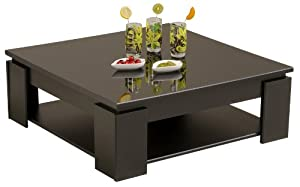 Parisot quadri coffee table shiny black - Table basse modulable conforama ...
