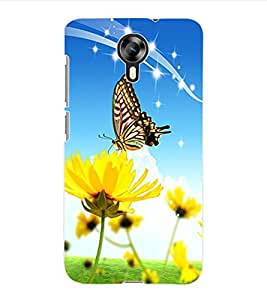 ColourCraft ButterFly Back Case Cover for MICROMAX CANVAS XPRESS 2 E313