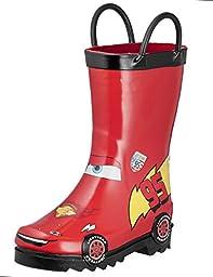 Disney Cars Kid\'s Lightening Mcqueen Boy\'s Red Rain Boots (Toddler/Little Kid) (10 M US Toddler)