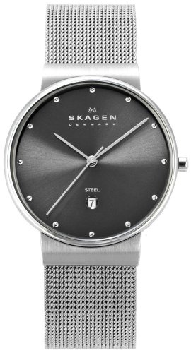 SKAGEN (スカーゲン) 腕時計 basic steel mens 355LSSM ケース幅: 34mm メンズ [正規輸入品]