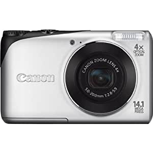 Canon PowerShot A2200 14.1MP Digital Camera Deluxe Kit Bundle Red 4GB Memory Card & Built Case Included