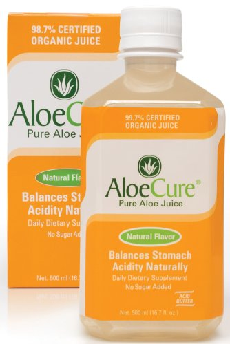 AloeCure Pure Aloe Juice - Natural Flavor (16.7 fl. oz. bottle)