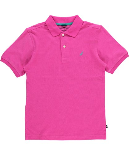 Nautica Boys 8-20 Short Sleeve Solid Pique Polo