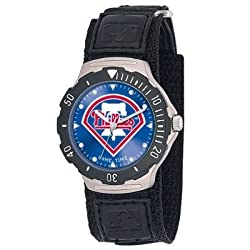 MLB Men's MDV-PHI Agent Series Philadelphia Phillies Velcro Watch