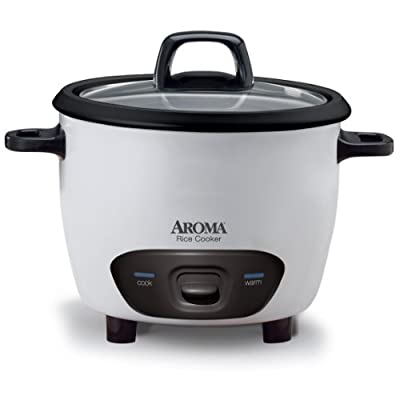 Aroma 6-Cup (Cooked) (3-Cup UNCOOKED) Pot-Style Rice Cooker (ARC-743G) by Aroma Housewares