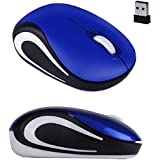 Kinghard Cute Mini 2.4 GHz Wireless Optical Mouse Mice For PC Laptop Notebook Blue