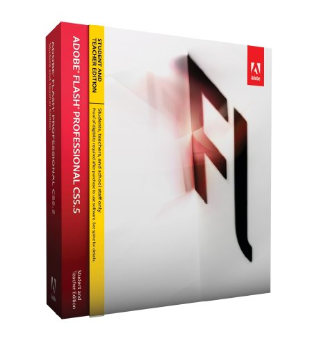 Adobe CS 5.5 Flash Professional, Student  &  Teacher version (PC)
