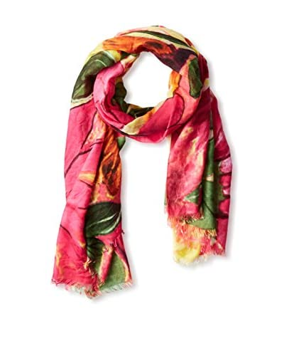 Saachi Women's Vivid Flower Scarf, Bright Multi