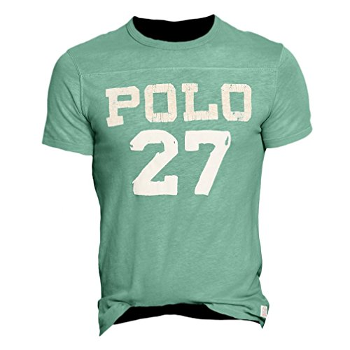 Polo ralph lauren mens faded custom fit t shirt blue xl for Meadowood mall custom t shirts