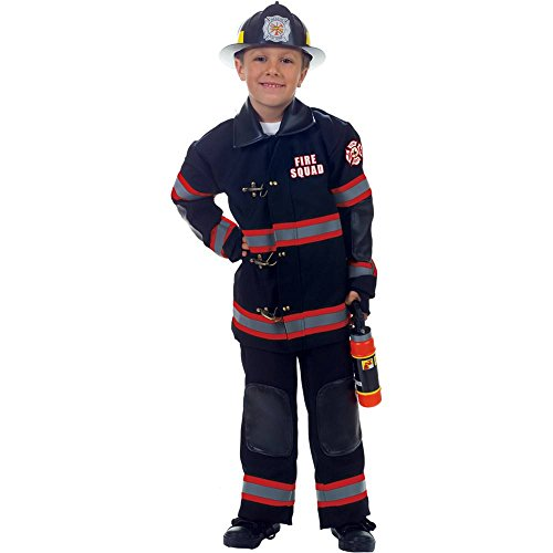 Black Firefighter Kids Costume