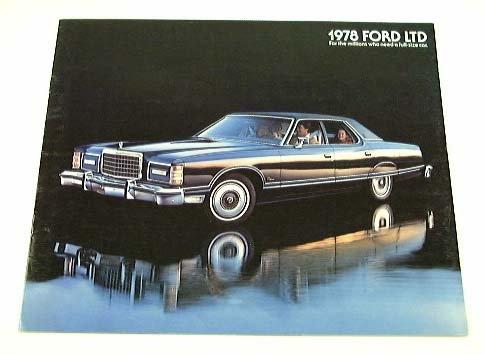1978 78 Ford Ltd Brochure Pillared Hardtop Landau front-200864