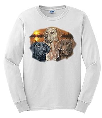 Express Yourself Adult Sunset Labrador Long Sleeve T-Shirt