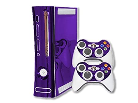 Xbox 360 Skin - NEW - PURPLE CHROME MIRROR system skins faceplate decal mod