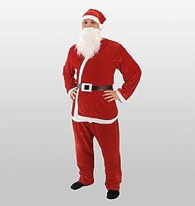 Weihnachtsmannanzug Nikolaus-Kostüm 5tlg