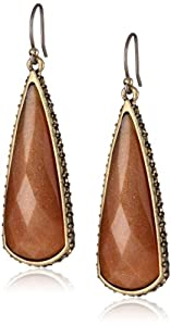 "Lucky Brand ""Tough Love"" Oblong Topaz Drop Earrings"