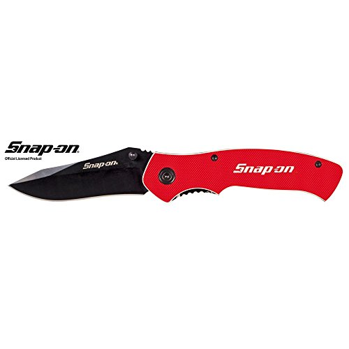 "Snap-On 870993 Liner Lock G10 Handle Blade, 3-1/8"", Red"