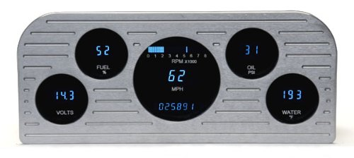 Allstar ALL80117 Auto Meter Ultra-Lite 3-Gauge Panel Kit Allstar Performance
