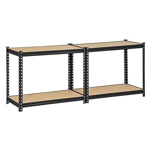 edsal ur 364blk black steel industrial shelving 4. Black Bedroom Furniture Sets. Home Design Ideas