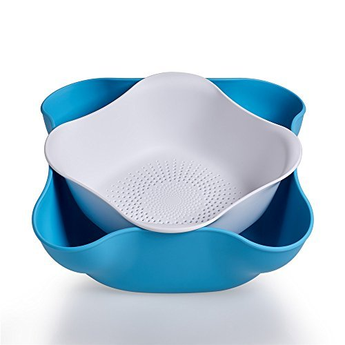 proaid-plastic-double-dish-nut-bowls-and-drainer-set-holds-to-serve-nuts-fruit-and-more-2-piece-bowl