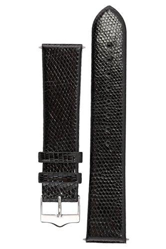 signature-lizard-in-black-18-mm-watch-band-replacement-watch-strap-genuine-lizard-skin-shine-silver-