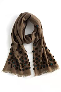 Asian Eye Fair Trade Wool Pimento Scarf (Khaki)