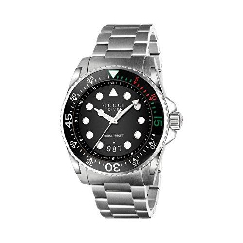 Gucci UOMO-orologio Diver Analog automatico in acciaio inox YA136208