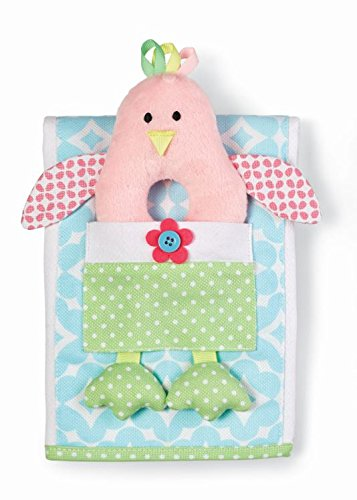 Mud Pie Blue Little Chick Burp Cloth and Rattle Set