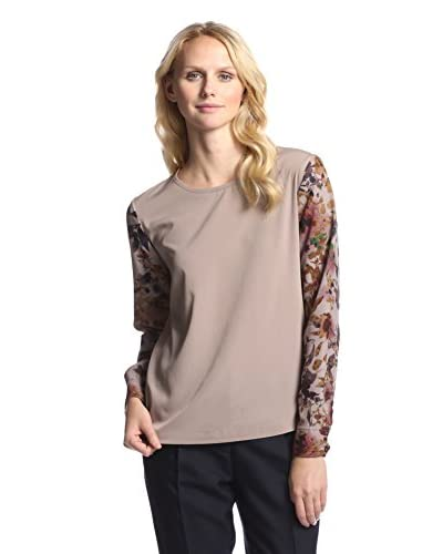 W118 by Walter Baker Women's Riley Top  [Inkblot Leaves]
