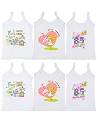 Gumber Pack of 6 White Sleeveless Vests (GE_SMJ_W_50_6pc-1-2Y)