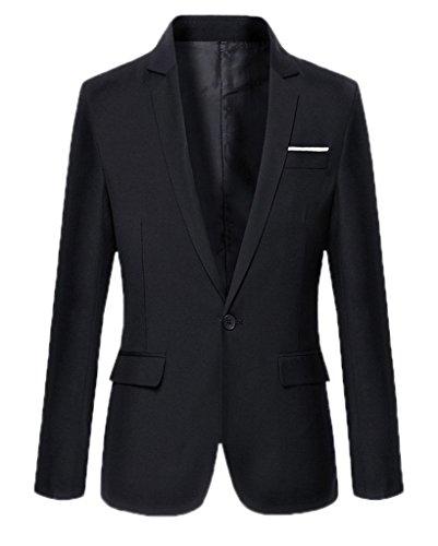 BELLA-Giacca da Uomo Manica Lunga Abbigliamento Uomo Nero Busto 96cm