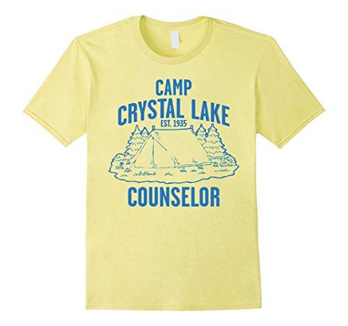 Men's Camp Crystal Lake Counselor T-Shirt Large Lemon (Camp Counselor Costume)