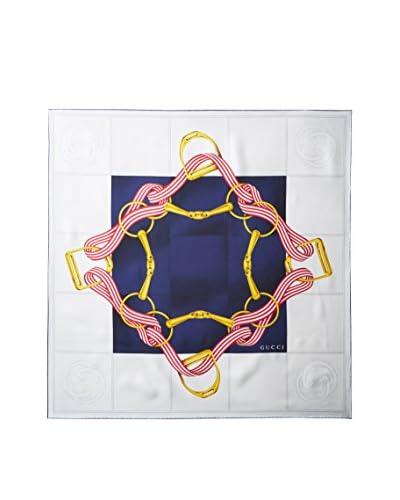 Gucci Women's Silk Scarf, Navy Multi