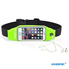 buy Kasonic Universal Running Belt Flexible Chest Bag Sport Waist Pack With Clear Pvc Window For Iphone 6,6Plus,6S,6Splus,5,5S, Samsung Galaxy S6, S5, S4, Note 5 4 3 (Rb01) (Green)