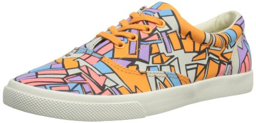 Bucketfeet - Sneaker CATGRYORA_8W Donna, Gray/Orange/Purple/Pink, 39 (6 UK)