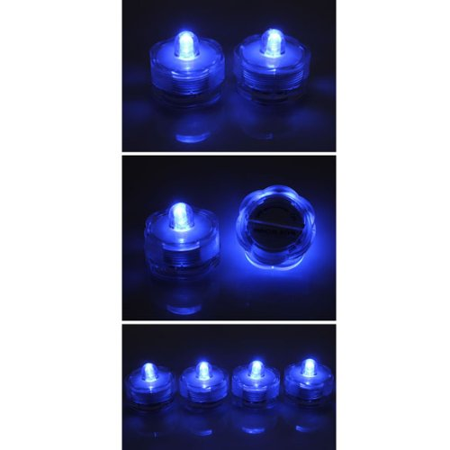 Vktech Pack Of 20 New Submersible Waterproof Led Candle Lamp Environmental Friendly Glim Blue