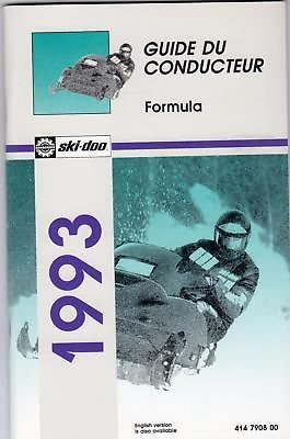 1993 Ski-Doo Formula,Mach 1 Plus X Owners Manual French front-1066580