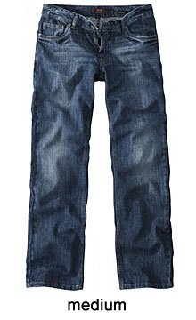 H.I.S. Denim Herren Jeans Hose Modell Randy, medium blue - HIS-102-10-1010, W40 L38