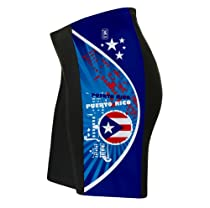 Puerto Rico Cycling Shorts for Men - Size L
