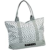 "NFL Oakland Raiders Ikat Tote Bag, Gray, 22"" X 5"" X 16"""