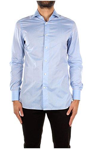 Camicie Zegna Uomo Cotone Celeste 3039718MS0BR Celeste 39
