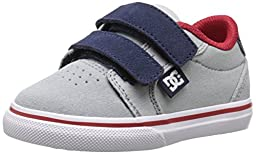 DC Anvil V Skate Shoe (Toddler), Grey/Red/White, 10 M US Toddler