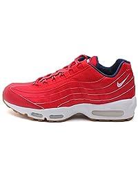 Nike Mens Air Max 95 Prm University Red/White-Midnight Navy 538416-614