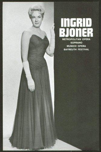 Soprano Ingrid Bjoner Flyer Hartford Ct 1964