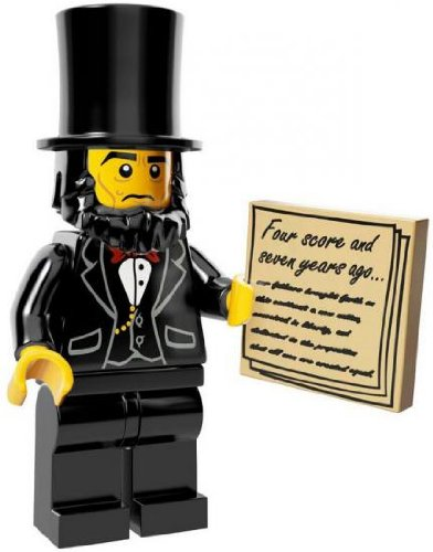 The Lego Movie Abraham Lincoln Minifigure Series 71004